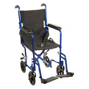 Drive Medical ATC19-BL Lightweight Transport Wheelchair