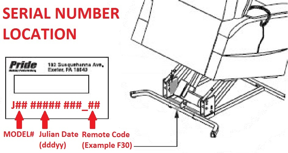 Pride Mobility Seat Lift Chair Recliner Serial Number Location eleasmb6934 lift chair seat recliner hand control remote toggle golden technologies lift chair wiring diagram at soozxer.org