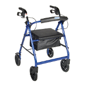 Drive Medical Aluminum Rollator Fold Up, Removable Back Support,